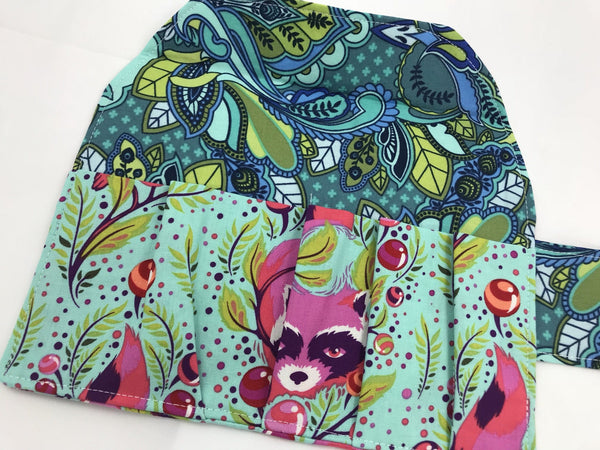 Raccoon Sanitary Pad Holder, Green Animal Tampon Wallet Case - EcoHip Custom Designs