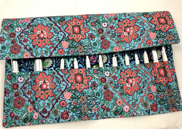 Blue Make Up Brush Case, Travel Cosmetic Brush Pouch, Paint Brush Holder - EcoHip Custom Designs