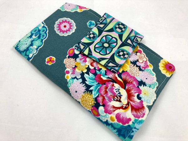 Gray Floral Tampon Case, Shark Week Bag, Sanitary Pad Pouch - EcoHip Custom Designs