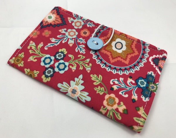Red Teabag Case, Tea Wallet, Tea Lovers Gift, Small Women's Wallet, Blue - EcoHip Custom Designs