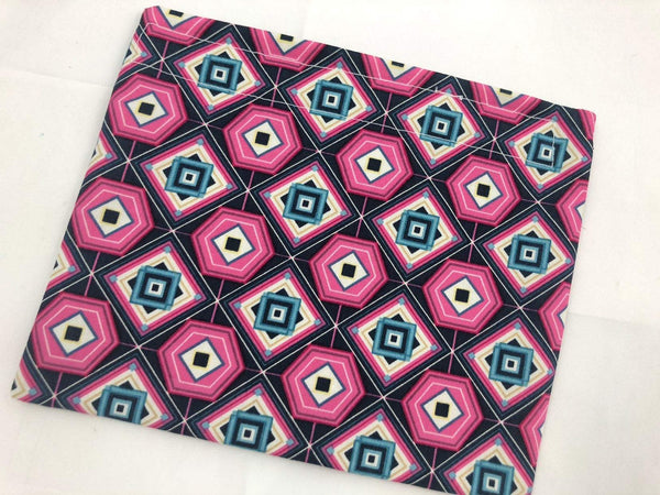 Reusable Snack Bag, Reusable Baggie, Pink Flower Snack Bag, Reusable Fabric Snack Bag - Out of Norm Pink - EcoHip Custom Designs