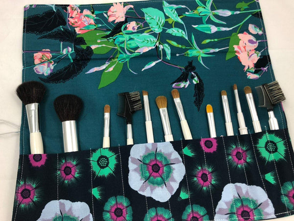 Marine Blue Makeup Brush Holder, Green Make Up Brush Organizer - EcoHip Custom Designs