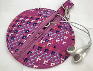 Raspberry Headphone Case, Bluetooth Bag, Ear Pod Pouch - EcoHip Custom Designs