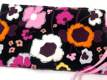 Load image into Gallery viewer, Black, Orange, Fuchsia, Travel Jewelry Case, Fabric Jewelry Organizer - EcoHip Custom Designs