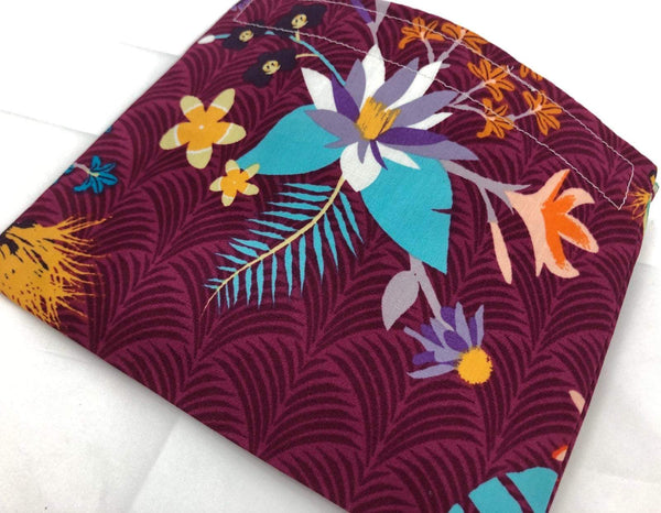 Purple Snack Bag, Floral Reusable Snack Bag - EcoHip Custom Designs