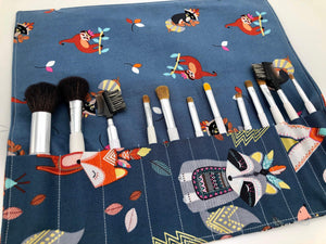 Animal Make Up Brush Bag, Travel Makeup Brush Holder, Paint Brush Case - EcoHip Custom Designs