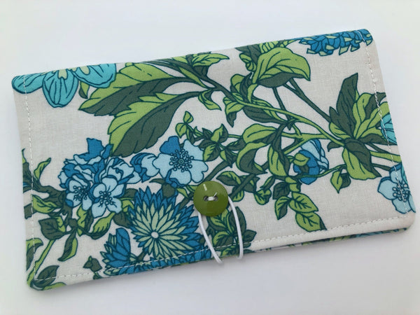 Green Checkbook Cover, Duplicate Check Book Register, Pen Holder - EcoHip Custom Designs