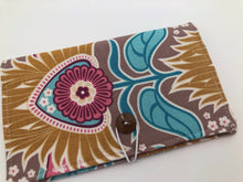 Load image into Gallery viewer, Beige Checkbook Register, Duplicate Check Book Cover, Pen Holder, Tan - EcoHip Custom Designs