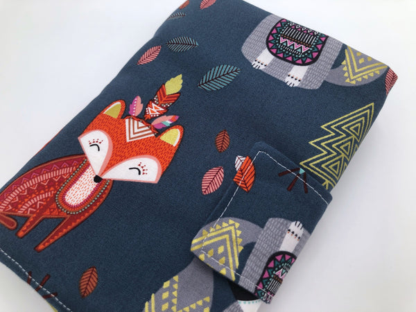 Fox Interchangeable Knitting Needle Case, Crochet Hook Roll, Animal Knitting Storage - EcoHip Custom Designs