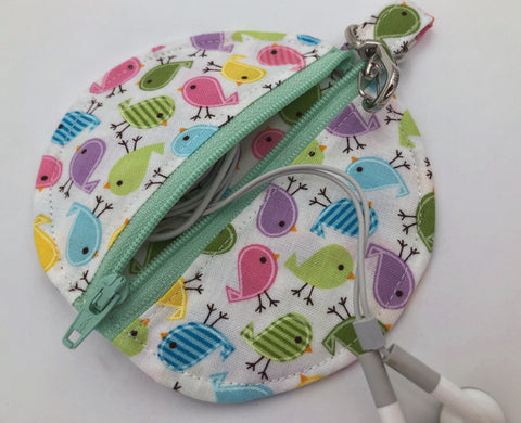 Birds Airpod Case, Bird Ear Bud Pouch, Headphone Case,, Paci Pod - EcoHip Custom Designs