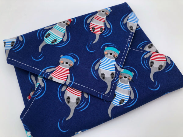 Otter Sandwich Bag, Eco-Friendly Sandwich Wrap, Reusable Napkin for School - EcoHip Custom Designs