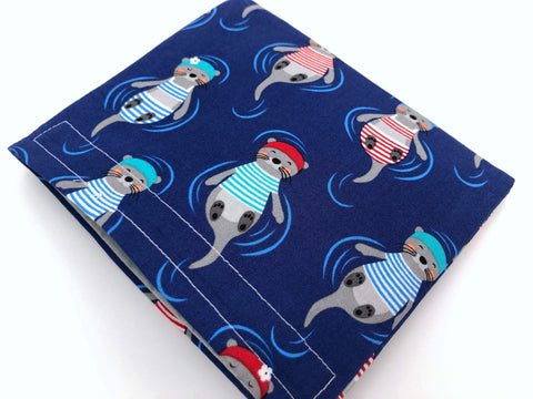 Otters Snack Bag, Blue Reusable Snack Pouch, Kid's Lunch Bag - EcoHip Custom Designs