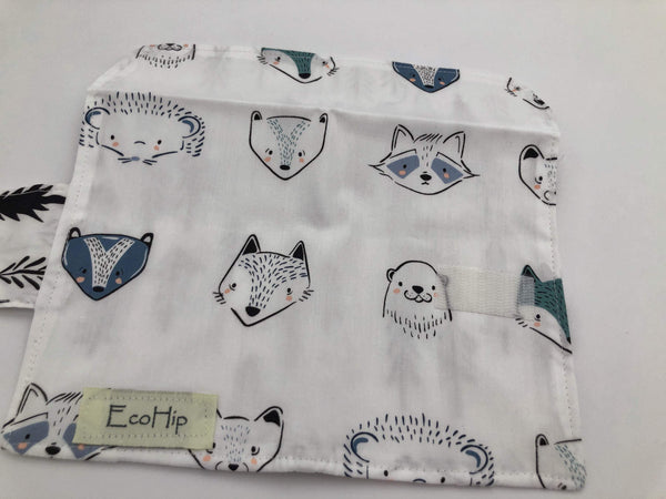 Animal Privacy Pouch, Fox Tampon Holder, Raccoon Sanitary Pad Wallet - EcoHip Custom Designs