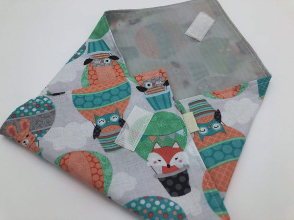 Fox, Owl Sandwich Wrap, Animal Reusable Sandwich Bag, Eco-Friendly - EcoHip Custom Designs