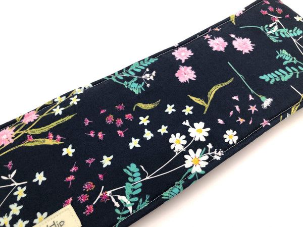 Blue Curling Wand Cover, Hair Straightener Case, Heat Resistant Iron Bag - EcoHip Custom Designs