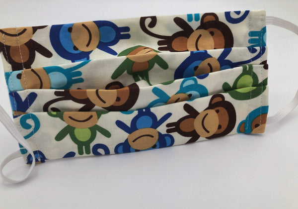 Monkey Cloth Face Mask, Reusable Cotton Face Mace, Women's Face Cover - EcoHip Custom Designs