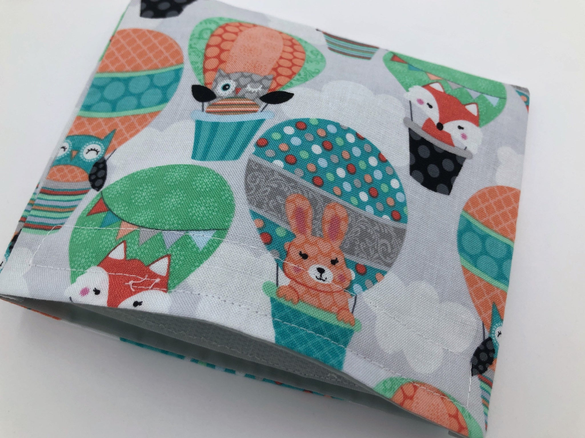 Animal Snack Bag, Fox Reusable Snack Bag, Eco-Friendly Baggie, Owl, Air Balloons - EcoHip Custom Designs