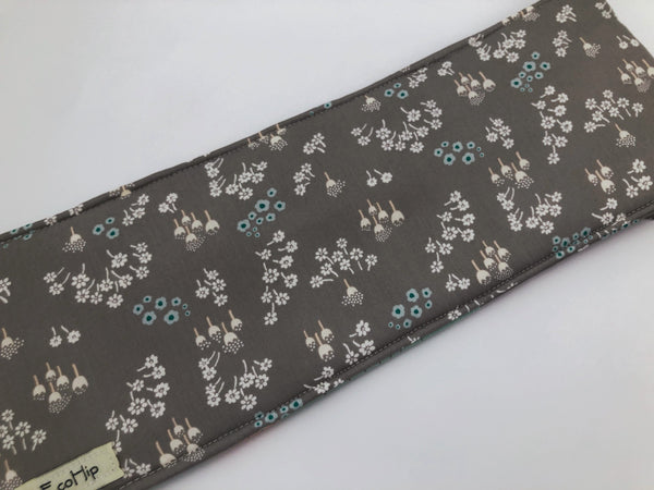 Green Curling Wand Cover, Gray Hot Iron Bag, Travel Curling Iron Case - EcoHip Custom Designs