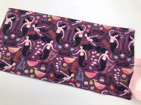 Mermaid Chalkboard Mat Roll Up, Travel Crayon Case Wallet, Activity Tote - EcoHip Custom Designs