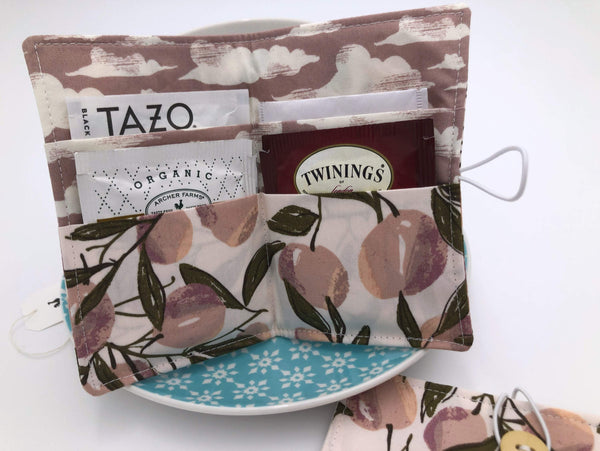 Tea Wallet, Tea Bag Holder, Tea Bag Wallet, Teabag Wallet, Teabag Holder, Tea Bag Organizer - Herstory Floral