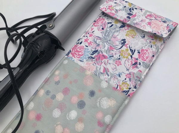 Travel Curling Iron Holder , Curling Iron Case, Flat Iron Holder, Flat Iron Case, Travel Flat Iron Sleeve - Ethereal Pink