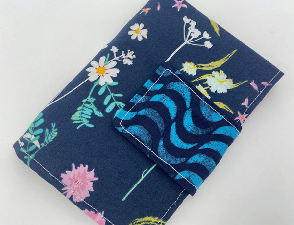 Privacy Pouch, Tampon Case, Sanitary Pad Case, Pad Pouch, Tampon Bag, Tampon Cozy, Tampon Holder - Orchid Blue