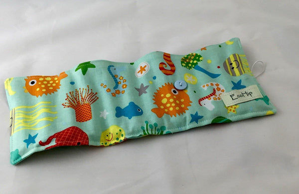 Ocean Animals Crayon Case, Nautical Crayon Holder, Ocean Birthday Present - EcoHip Custom Designs
