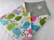 Load image into Gallery viewer, Spring Birds, Reusable Sandwich Mat, School Sandwich Bag, Lunch Napkin - EcoHip Custom Designs
