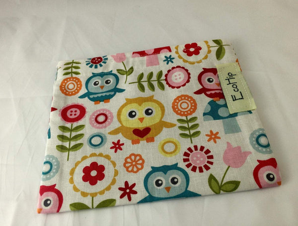 Owl Snack Bag, Bird Snack Baggie, Eco-Friendly Snack Sack, Reusable Lunch - EcoHip Custom Designs