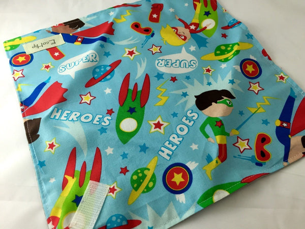 Reusable Sandwich Bag, Superhero Sandwich Wrap, Eco-Friendly School Lunch - EcoHip Custom Designs