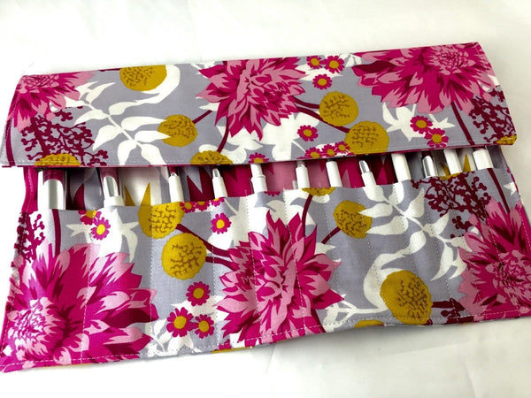 Red Makeup Brush Holder, Magenta Make Up Brush Roll Up, Travel Bag - EcoHip Custom Designs