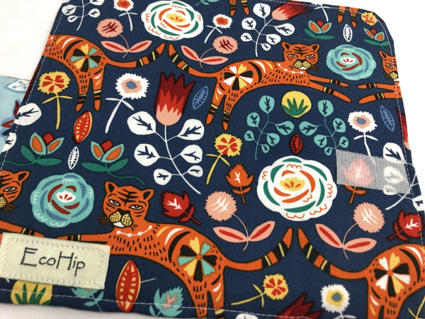 Privacy Pouch, Tampon Case, Sanitary Pad Holder, Feminine Products Wallet, Tigers - EcoHip Custom Designs