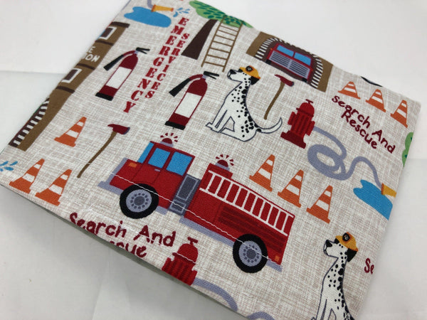 Reusable Kid's Snack Bag, School Lunch Baggie, Fire Fighters - EcoHip Custom Designs