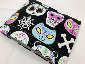 Reusable Kid's Snack Baggie, Eco-Friendly,  Day of the Dead, Animals - EcoHip Custom Designs