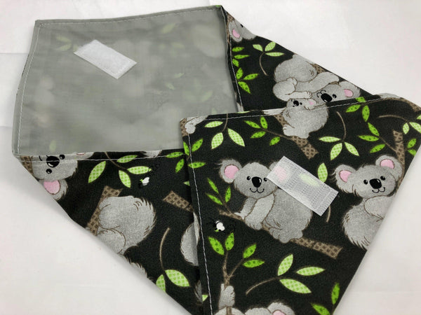 Reusable Sandwich Bag Wrap, Koala Bear Sandwich Mat, School Lunch - EcoHip Custom Designs