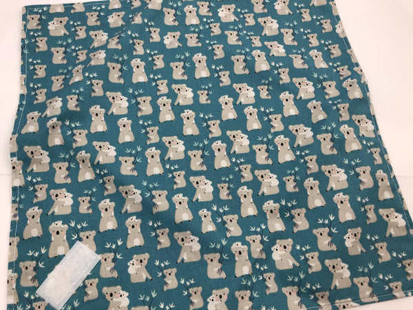 Reusable Sandwich Bag Wrap, School Lunch Napkin, Animal, Koala Bears - EcoHip Custom Designs