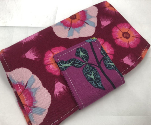 Sanitary Pad Pouch, Feminine Products Wallet, Time of the Month Holder, Taffy Red - EcoHip Custom Designs