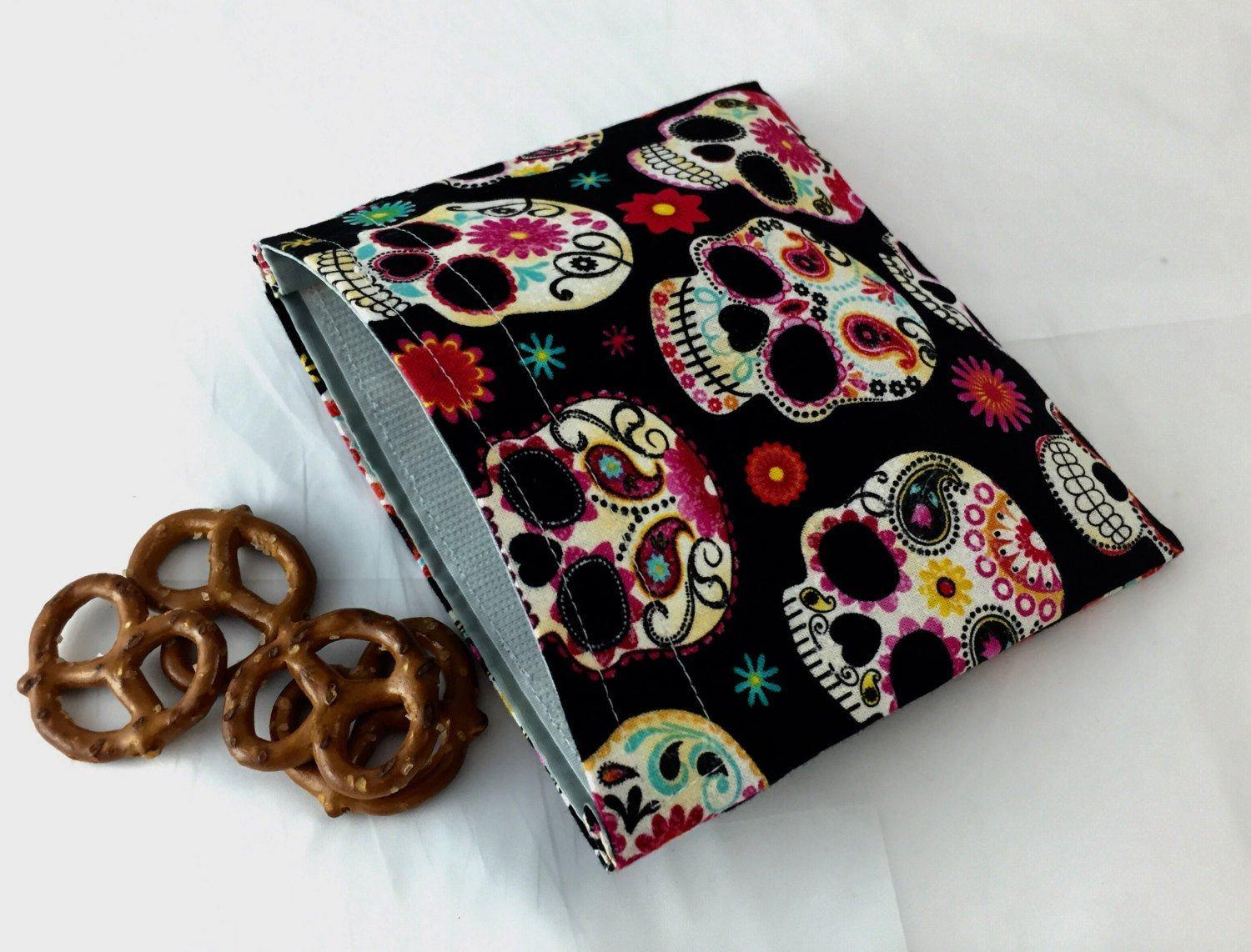 Sugar Skull Snack Bag, School Snack, Day of the Dead Lunch - EcoHip Custom Designs