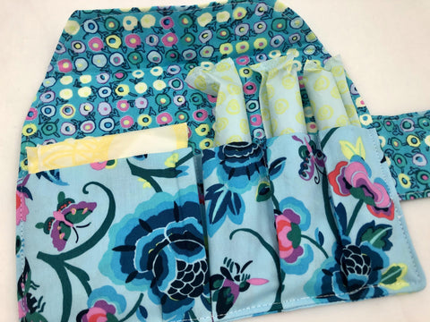 Tampon and Sanitary Pad Bag Keeper, Feminine Products Cozy, Tampon Case, Folly Aqua Blue - EcoHip Custom Designs