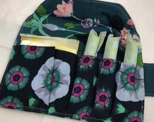 Tampon Wallet, Sanitary Pad Holder, Feminine Products Privacy, Marine Green - EcoHip Custom Designs