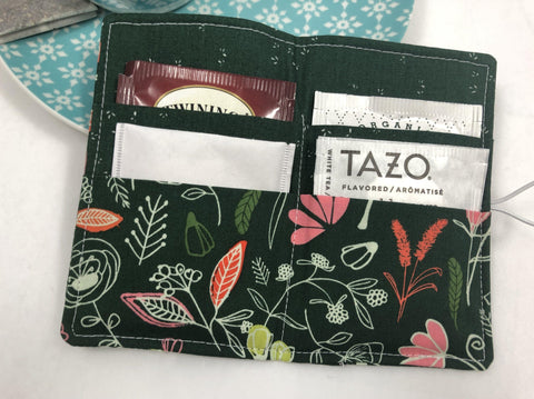 Teabag Holder, Travel Tea Bag Wallet, Tea Lovers, Dark Forest - EcoHip Custom Designs