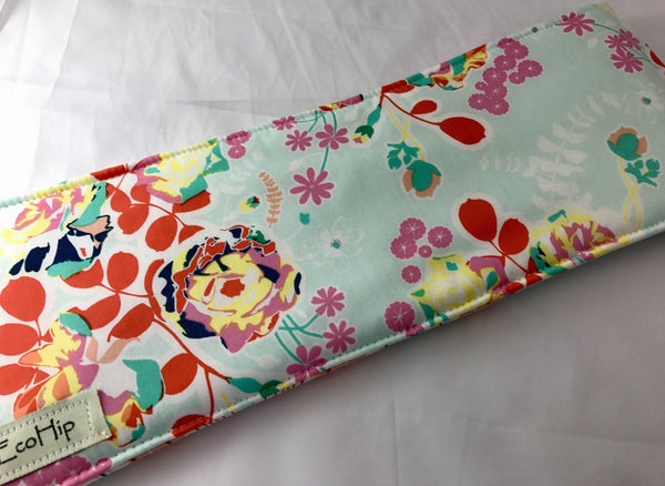 Travel Curling Iron Cover, Hair Straightener Case, Heat-Resistant Bag, Blossom - EcoHip Custom Designs
