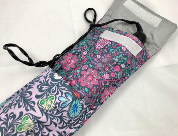 Travel Curling Iron Cover, Purple Flat Iron Case, Curling Wand Bag, Lilac - EcoHip Custom Designs