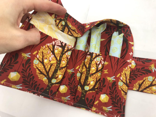 Tree of Life, Tampon Sanitary Pad Pouch, Time of the Month Holder, Tampon Wallet - EcoHip Custom Designs