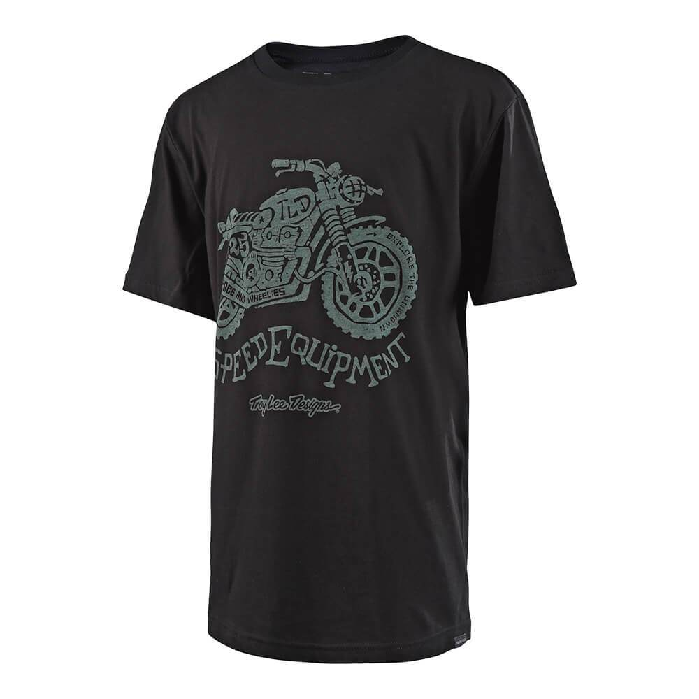 YOUTH SHORT SLEEVE TEE EXPLORE BLACK