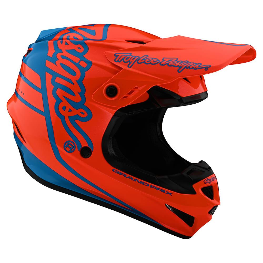 GP HELMET SILHOUETTE ORANGE / CYAN