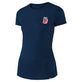 WMNS SHORT SLEEVE TEE PEACE & WHEELIES HEATHER NAVY
