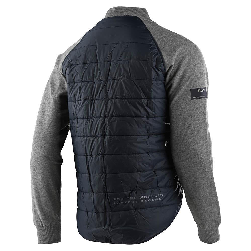 ZIP UP BOMBER HOODIE FACTORY QUILTED NAVY