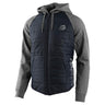 ZIP UP HOODIE RACING QUILTED NAVY