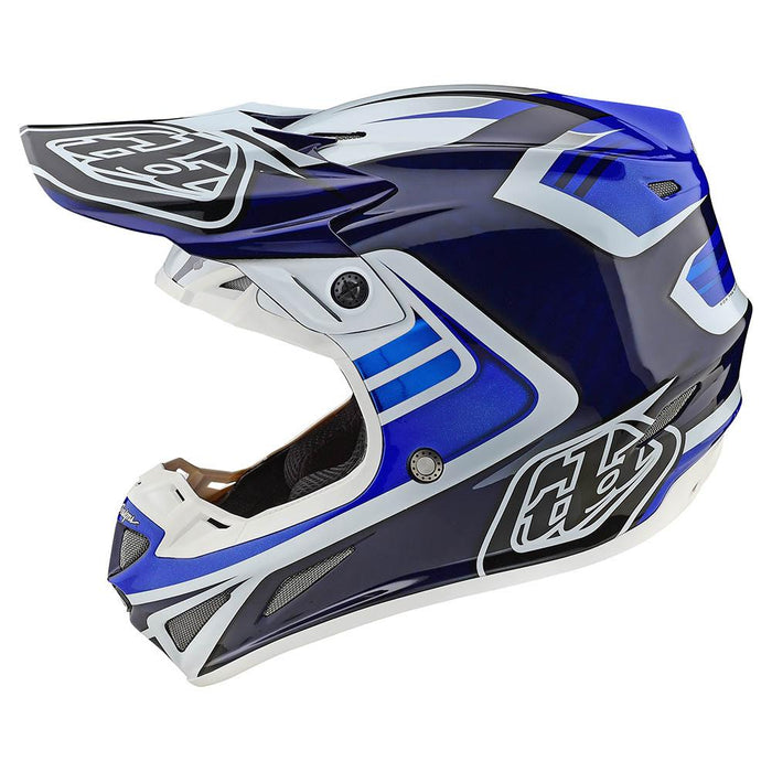 SE4 CARBON HELMET W/MIPS FLASH BLUE / WHITE